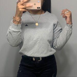 Adidas Vintage Distressed Cropped Sweatshirt SZ M
